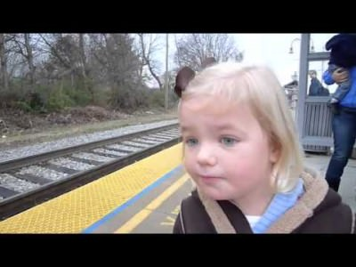 (VIDEO) Girl Is Super Excited To Ride The Train