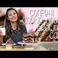 [VIDEO] Sweet And Sinful Confetti Cookie Dough Brownie Cake