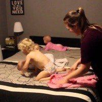 OMG! Hilarious Must-See Video Of Mom Versus Triplets And Toddler